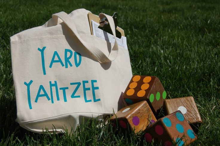 Yard Yahtzee. Outdoor games. **just the picture but easy enough to make**