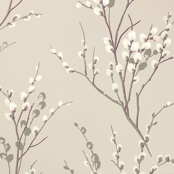 Pussy Willow Natural from the Laura Ashley wallpaper collection.