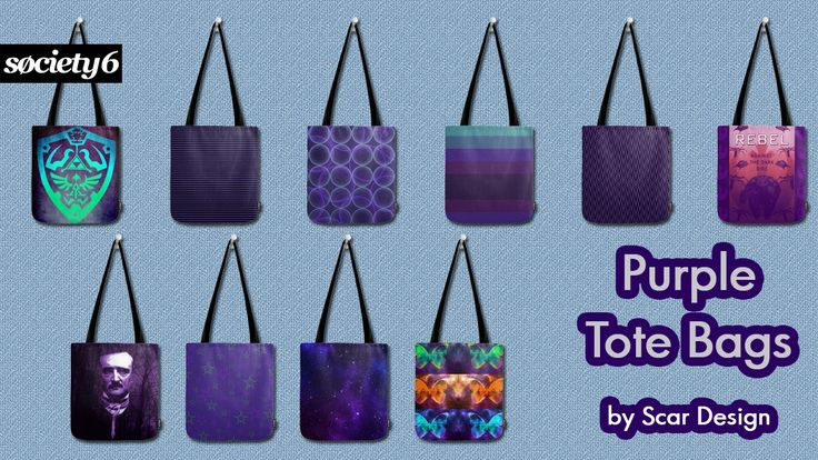Purple Tote Bags by Scar Design. Labor Day Sale: 20% Off + Free Worldwide Shipping on Everything Today! #totebags #purpletotebag #purplebag #bags #save #discount #sales #freeshipping #society6 #giftsforher #poebag #zeldabag #stripes #skullsbag #skulls #gothicbag #butterflybag