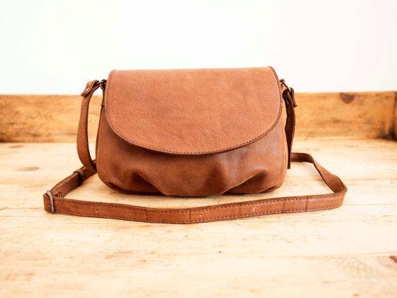 Bolso de piel mujer // Bolso pequeño color camel // Bolso cuero marrón // Pequeño bolso marrón // Bolso mujer marrón / Bolso bandolera mujer