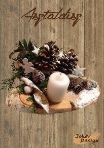 Téli mese asztaldísz