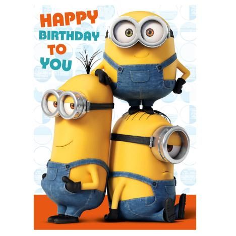 Unforgettable image pertaining to minion birthday cards printable