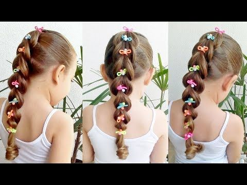 Penteado Infantil fácil com trança falsa – YouTube
