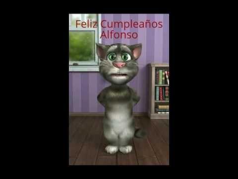 Gato Tom - Feliz Cumpleaños Alfonso Para Enviar