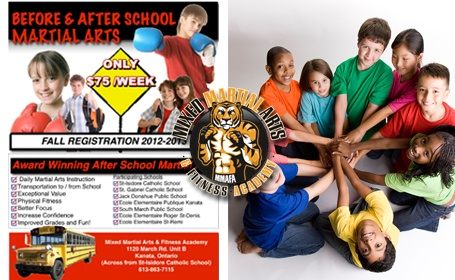 Before and after school program at Mixed Martial Arts & Fitness Academy.