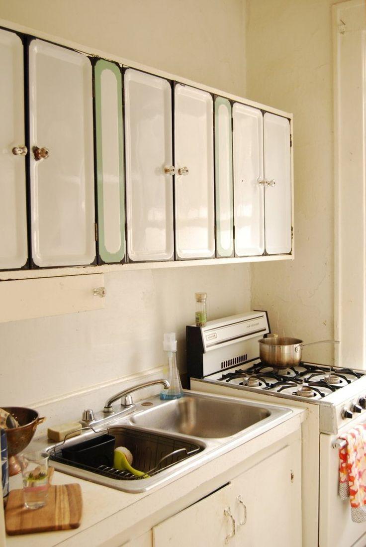 this green for my enamel table.... Katie's Cozy Teeny Tiny Boho Studio — House Tour | Apartment Therapy