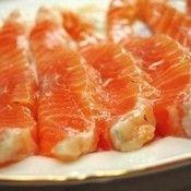 Красная рыба, маринованная с коньяком