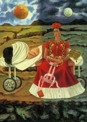 "Kahlo, isn't it amazing how our dreams never and yet somehow depict our waking lives in some fashion? I think Frida Kahlo masterfully shows this. No wonder they labeled her a ""surrealist""."