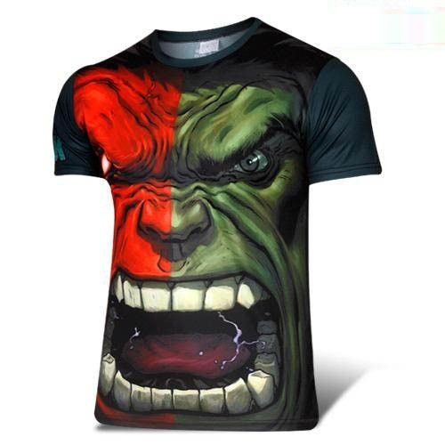 Hulk Quick-dry Sports T-shirt, Breathable Short Sleeve T-shirt For Outdoor Sports.