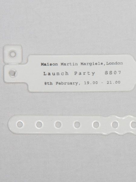 Maison Martin Margiela Launch Party Pass . Absolutely love this.