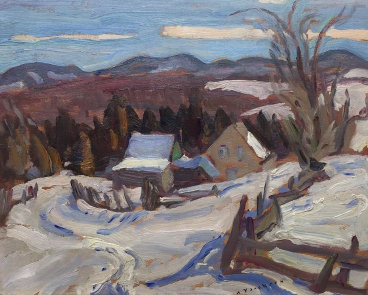 A.Y. Jackson - Gatineau Hills 8.5 x 10.5 Oil on panel (1935)