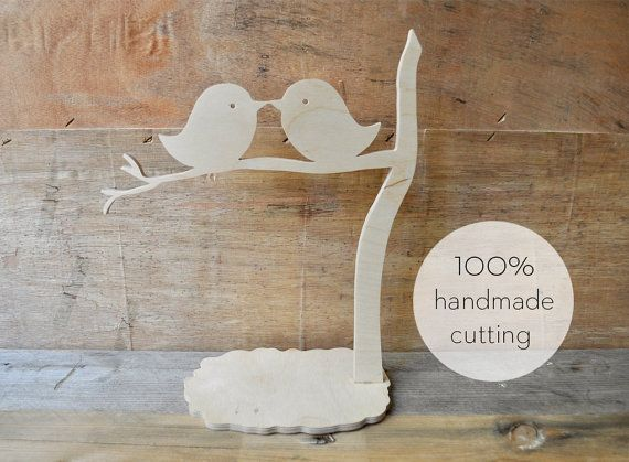Cute birds sitting on a branch and kissing! Υou can decorate your table at home or table of your wedding!  Feel free to tell us what you want to cut it for you in any size, thickness and shape you want!