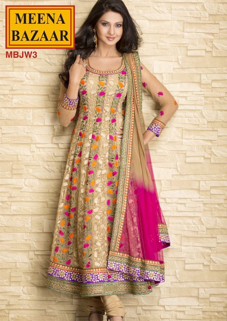 MBJW3 Embroidered Anarkali Suit on Nett Fabric Rs. 9980! ONLY