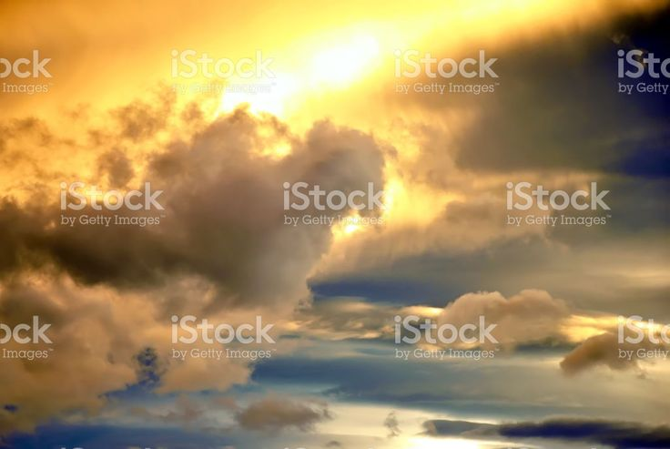 Dramatic  Sunset Clouds royalty-free stock photo