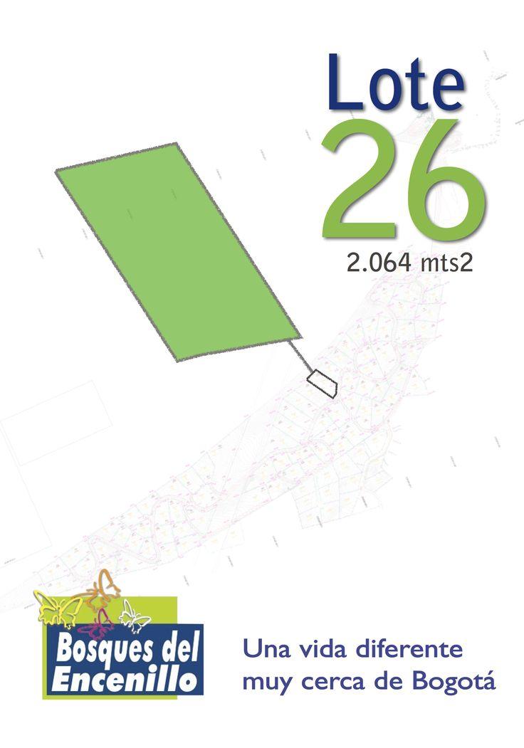 Lote 26  http://www.bosquesdelencenillo.com #ventaloteslacalera