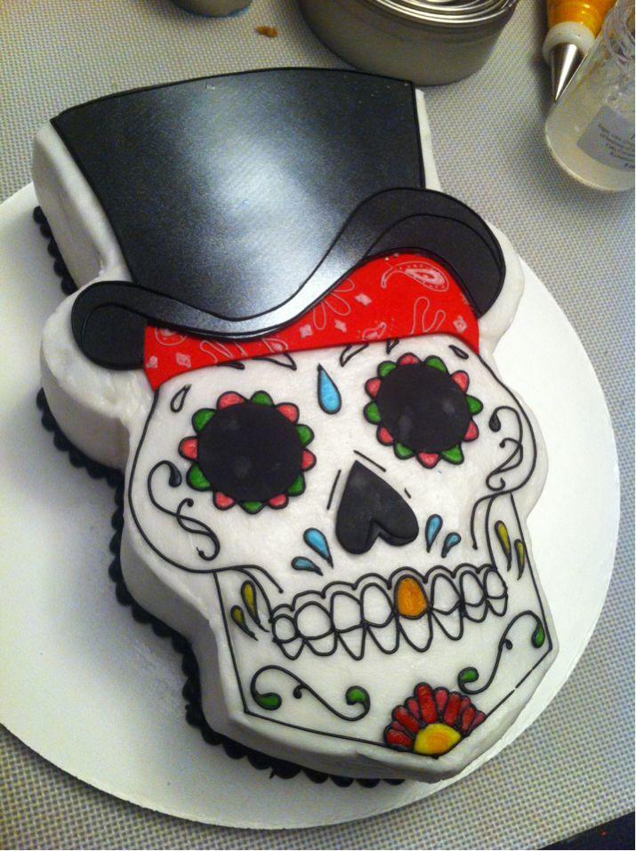 Dia de los muertos/sugar skull cake - Love... ♥