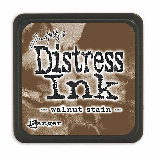 natvorenie / atramentová poduška mini distress walnut