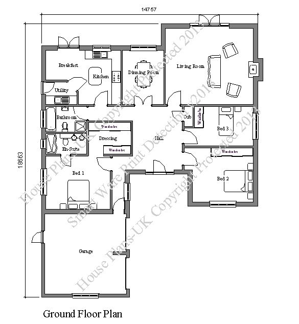 Great House Plans UK, Architectural Plans And Home Designs   Product Details