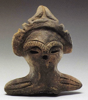 A cray figure in the Jomon period (About 14000〜2300 years ago in Japan)