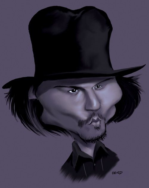 Johnny Depp - 21 Celebrity Caricatures - My Modern Metropolis