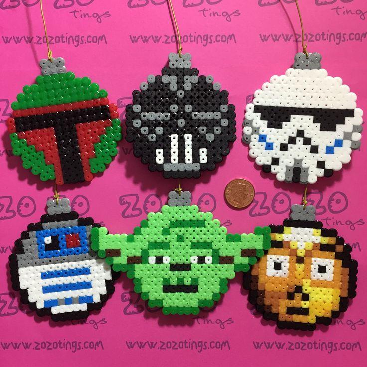 Star Wars Christmas Bauble Set Hama Perler Beads By Zo Zo