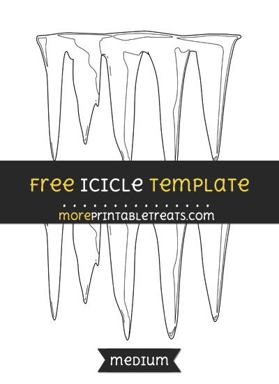 free icicle template medium shapes and templates printables