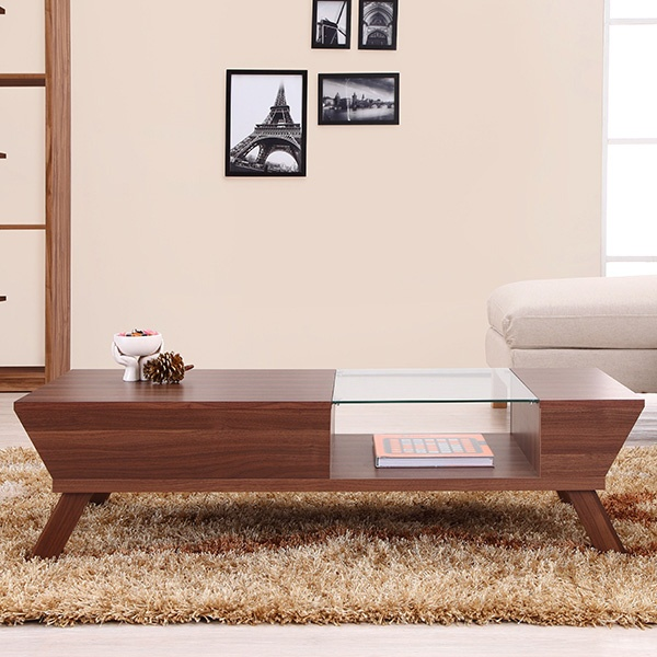 Enitial Lab Braxton Modern Glass Top Coffee Table | Meijer.com