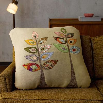Beautiful applique cushion!