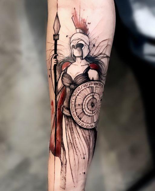 Gorgeous Athena Tattoo