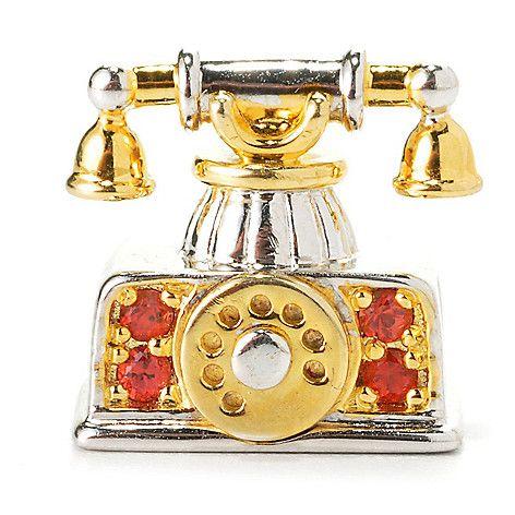 154-574 - Gems en Vogue Final Cut Orange Sapphire Telephone Slide-on Charm