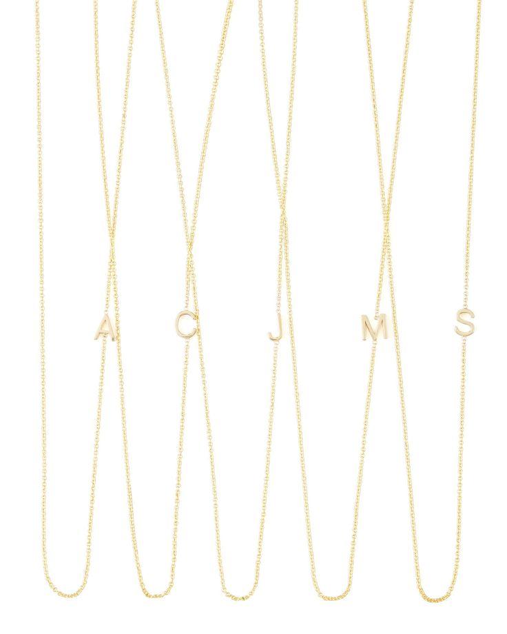 mini letter necklaces maya brenner designs