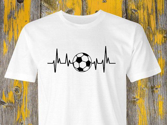 Football Heartbeat T Shirt Soccer Heartbeat Shirt Football Print Soccer Ball Heartbeat Soccer T Shirt Football Game Tshirt So Soccer Tshirts Shirts Football