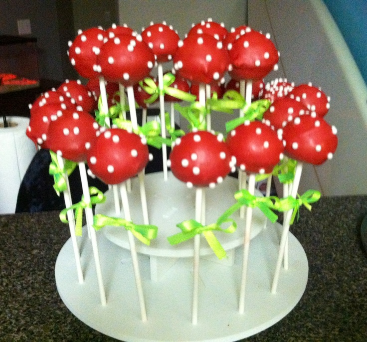 Strawberry Shortcake Themed Party Cake Pops. Strawberry ...
