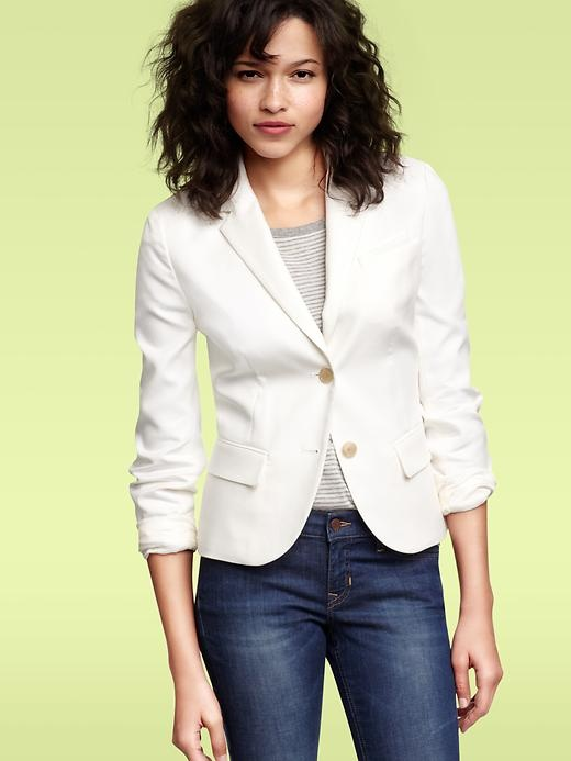 Blazer...: Essential Things I Want To Sew, White Blazers, Style, Color, Books Worth, Blazer Gapcanada Com, Gap Shrunken, Shrunken Classic