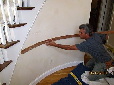 Installing Molding To A Curved Wall Make An Entrance