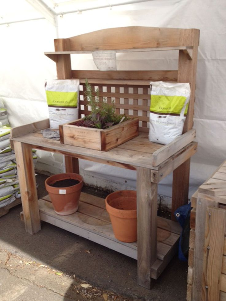 80 best images about garden potting area ideas on pinterest Potting bench ideas