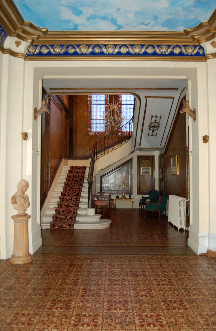 entrance hall chateau Sommesnil Normandy