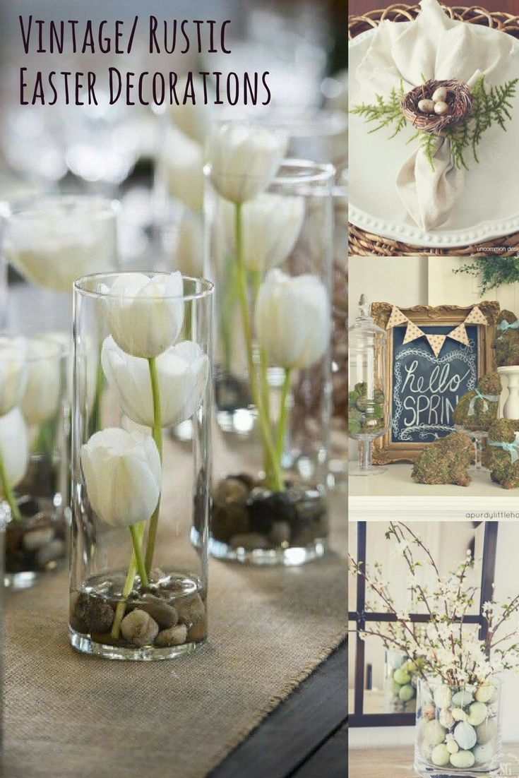 Vintage Rustic Easter Decorations Easter Table Decorations Diy