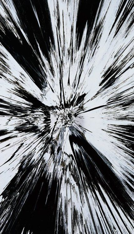 """Damien Hirst """"Beautiful, Black and White Shattered Inside my Head Forever Painting"""" 2008"""