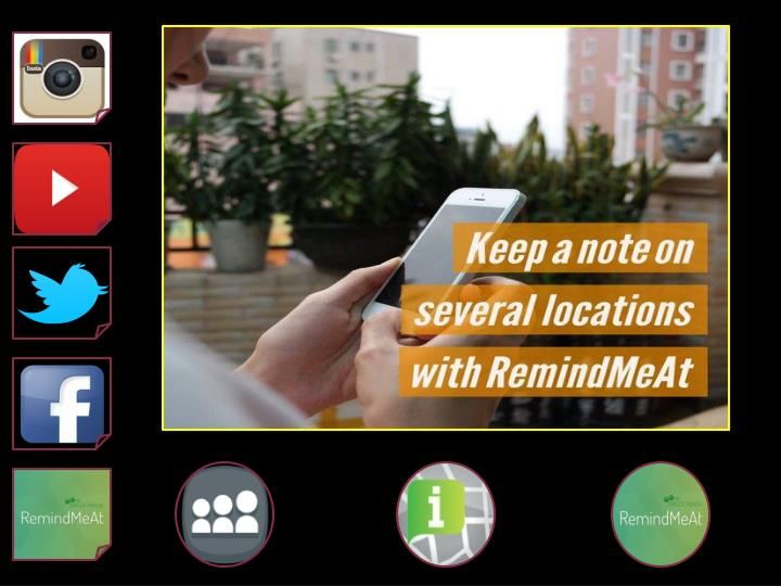 Simply download the app, and create location based reminders for yourself. A LOCATION BASED APP THAT SUPERCHARGES THE WAY YOU SET REMINDERS\nVisit www.RemindMeAt.com for more info.