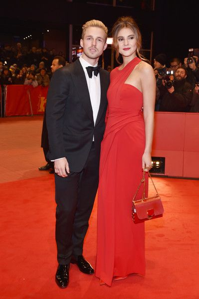 Marcus Butler and Stefanie Giesinger attend the 'Django' premiere during the 67th Berlinale International Film Festival Berlin at Berlinale Palace on February 9, 2017 in Berlin, Germany.