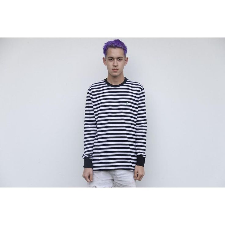 Long sleeve stripe tee $44.99, model wearing size M. For other apparel styles and prices go to lamentaapparel.com