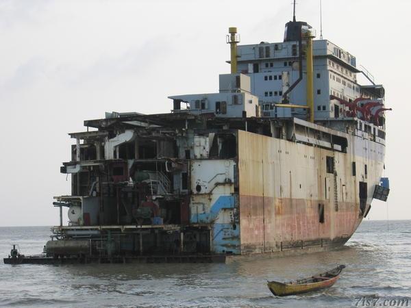 Ship breaking yard in Chittagong
