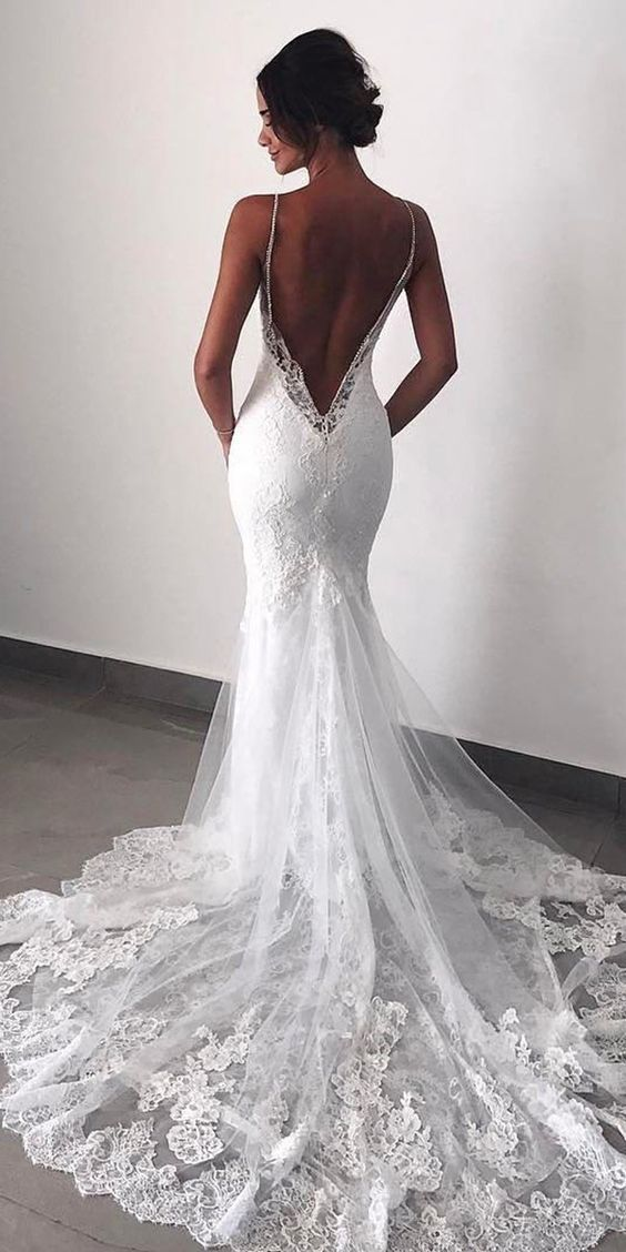 68 Backless Wedding Dresses & Gowns Koees Blog