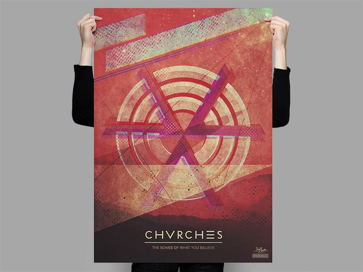 Since I have been non-stop listening to the CHVRCHES album since it came out, I have been super inspired to create a poster. Had a lot of fun with this one, especially because I was listening to the album while designing this.