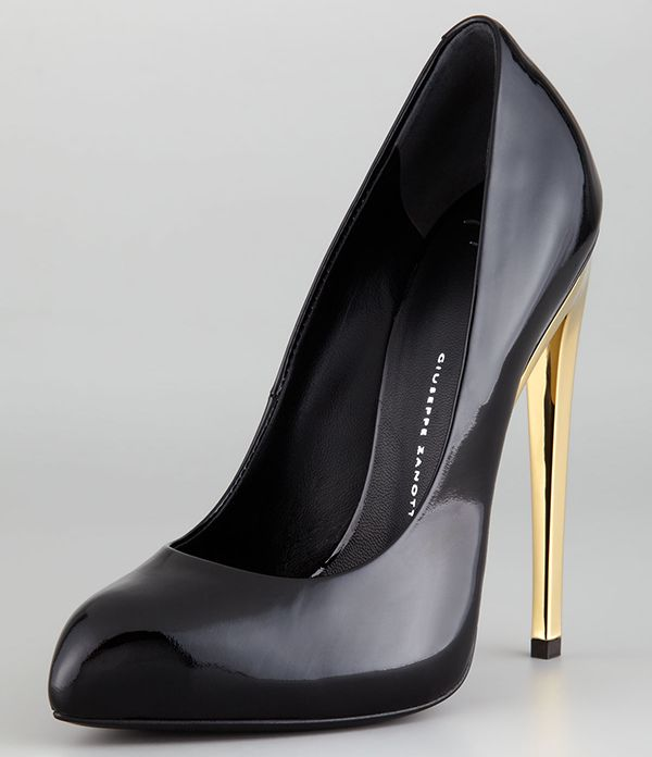 Giuseppe Zanotti Mirror Patent Leather Pumps in Black
