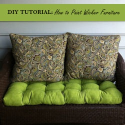 How to Paint Wicker FurniturePainting Wicker Furniture, Painting Outdoor, Drawing Painting, Diy Painting, Patios Loveseats, Diy Tutorials, Outdoor Wicker Loveseats, Wicker Tutorials, Diy Projects