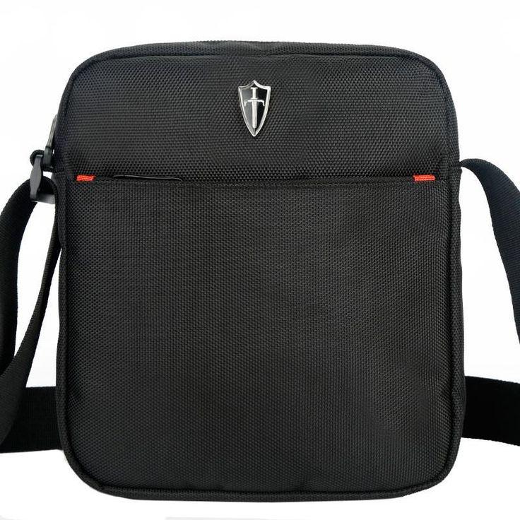 Black shoulder bags for men | Furrple