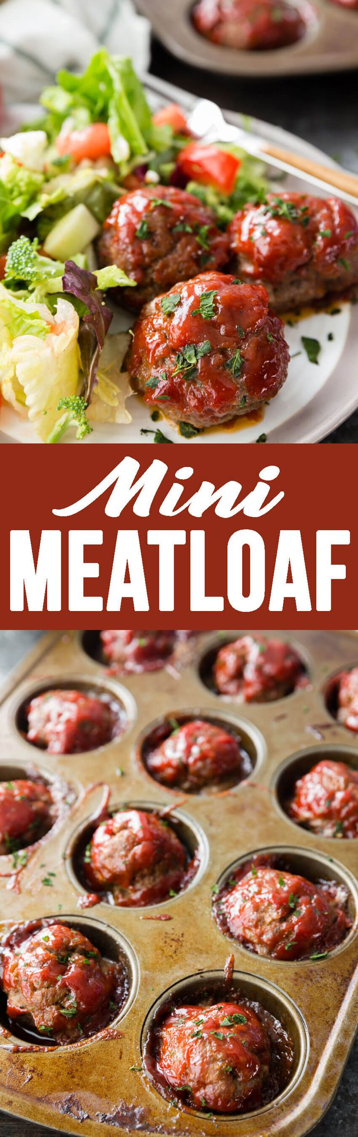 Easy Meatloaf Minis that are packed with flavor, made in a muffin tin for thorough cooking and easy serving, and rivals any meatloaf out there!