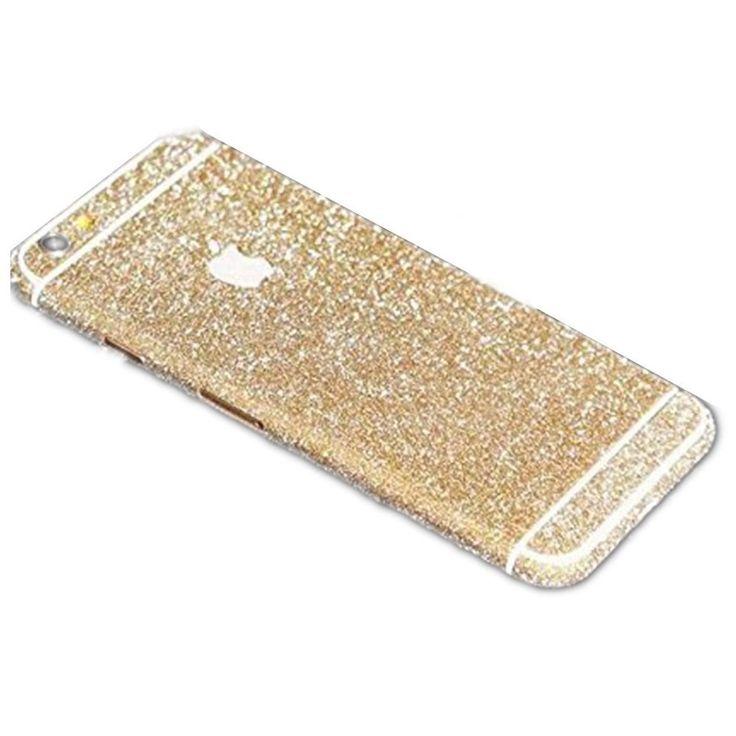 Gold Glittery iPhone 6 / iPhone 6S Full Body Sticker Wrap